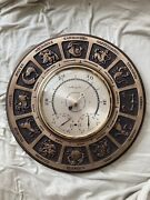 Vntg. Airguide Horoscope Zodiac Barometer Thermometer Humidity14 Orig.owner