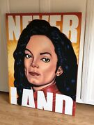 Micheal Jackson Original Air Brushed Painting On Canvas, Signed By The Artist.