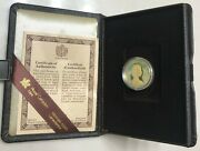 1980 Canadian Maple Leaf/qe Ii 100 22 Karat 1/2 Ounce Gold Proof Coin In Case