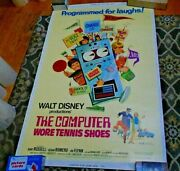 1970 40 X 60 Movie Poster The Computer Wore Tennis Shoes Kurt Russell Rare