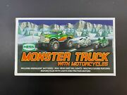 2007 Hess Toy Monster W Motorcycles Truck New Gas Oil Station 4x4 Cycle