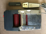 Extremely Rare Vintage Rols Dictation Machine With Tape, Microphone, Case ++