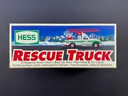 1994 Hess Toy Truck Rescue Truck New Gas Oil Station Fire Emergency