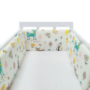 78 Inch Breathable Baby Crib Bumper Mesh For Cradle Newborn Crib Pads Thick