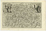 Antique Map-germany-franconia-thuringia-baden Wurttemberg-scherer-1699