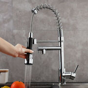 Spring Kitchen Faucet Swivel Spout Single Handle Sink Pull Down Spray Mixer Tap