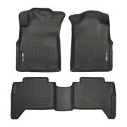 Husky Liners Weatherbeater Front Seat And 2nd Row Floor Mats For Toyota Tacoma
