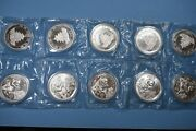 1995 Chinese Silver Panda Full Sheet Double Sealed 10 Coins Sm Twig...lg Date