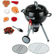 Weber Original Kettle Bbq Barbecue Grill Light Up Kid's Plastic Play Toy, Black