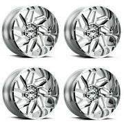 Set 4 20 Vision Off Road Spyder 20x10 Chrome 8x170 Lifted Truck Wheels -25mm