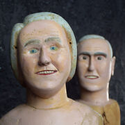 19th Century Pine Milliners Busts