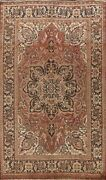 Antique Geometric Heriz Traditional Hand-knotted Area Rug Oriental Carpet 7and039x10and039