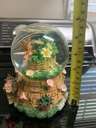 Vintage Butterfly Floral Musical Snow Globe Works
