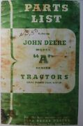 John Deere Tractor Model A Awh Aw An Anh Styled Parts Manual S/n 552000-up