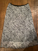 Believe Gray And Black Ruffle Skirt Womanandrsquos Size 8