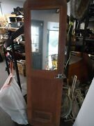 Marine Boat Solid Teak Door With Mirror Handle And Hinges - Used