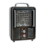 Comfort Zone Cz798bk Compact Portable Electric Utility Space Heater Personal Fan