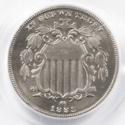 1883 Shield 5c Pcgs Cac Certified Pr66 Us Mint Nickel Coin