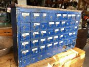 Primitive Antique 51 Drawer Hardware Store Parts Cabinet Apothecary Chest