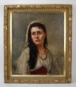 1884 Oil Painting Peasant Woman In Reflective Mood Alfred Payne Chicago Artist