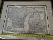 Vintage 1879 Michigan Wisconsin Map Antique Original Atlas Map 78 And 79 Map Only
