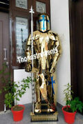 Rust Free Stainless Steel Fully Wearable Medieval Templar Knight Full Suit