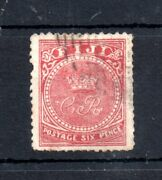 Fiji 1871 6d Rose Fine Used Sg12 Cat Val £300 Spiro Forgery Ws19354
