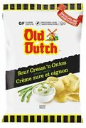Old Dutch Sour Cream 'n Onion Potato Chips, 40g/1.4 Oz., {imported From Canada}