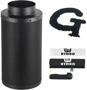 6 Inch Air Carbon Filter With Australia Virgin Activated Charcoal For Inline Fan
