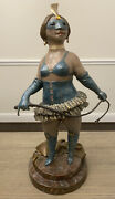 Stunning 1989 Charles Bragg Zelda By Appointment Only Bronze Sculpture Statue