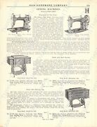 1920s Antique Hardware Ad Haw's 'pure Gold' Sewing Machines And Cabinets