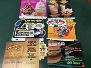 Vintage Lot Of 6 Collectible Mcdonald's Translite Menu Signs Happy Meal