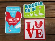 Purina Chicken Feed 2018 Flock-tober Love Waddle On In Hen Delivers Tin Signs