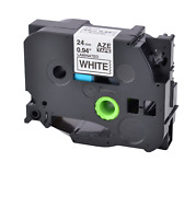 80pk Tz-251 Tze-251 Black On White Label Tape For Brother P-touch Pt-1400 24mm