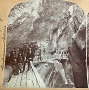 In The Heart Of The Box Canyon, Colorado U.s.a. Stereoview