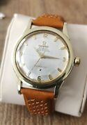 Menand039s Vintage Wrist Watch Omega Constellation Pie Pan Cross Hair Automatic 1958
