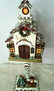 Kathy Hatch Collection Lighted Holiday Christmas Church Nwot