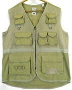 Bugle Boy Menand039s Fishing Vest Size Xl Hunting Tactical Zip Up Cargo Vintage