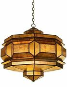 20w Floridia Pendant Moorish Silhouette With Glowing Antique Mirror Glass