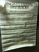 1978 Buick Engines Used In Car Vehicle Dealership Poster Regal Lesabre Riviera
