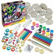 Glow In The Dark Rock Painting Arts And Craft Kit For Kids Andndash Supplies For Pain