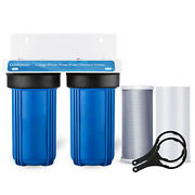 Geekpure 2 Stage Whole House Water Filter System 1 Port 10 X 4.5 W/ Pp Carbon