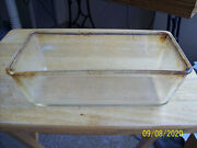 Vintage Corning Clear Glass Pyrex Bread Pan Casserole Dish Kitchen Cookware