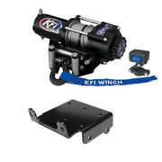 Winch Kit 2500 Lb For Yamaha Grizzly 660 4x4 2002-2008 Steel Cable