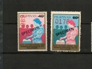 Philippines 1983 Specimen Stamps Woman Sufferage 50th Anniversary Gold Jubilee