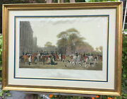 Antique The Meet At Badminton 1847 Engraved By William Giller Engraving
