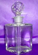 Baccarat France Antique Hand Blown Perfume Bottle 1890-1910 Marked