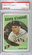 1959 Topps Danny O'connell 87 Psa 7