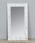 Personalized Antique Handmade Mother Of Pearl Inlay Mirror Floral