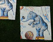 Hand Painted Tar Paper Antique Circus Advertising Poster Elephant, Salvaged Find